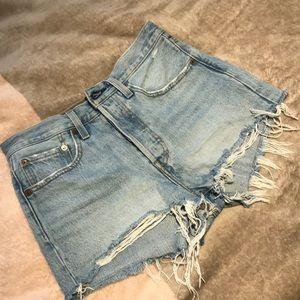 COPY - Levi's 501 denim shorts. Like new. $40